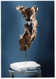 "'DANCE I' olive wood / marble stone height 0,70m / 2'3"" SOLD"