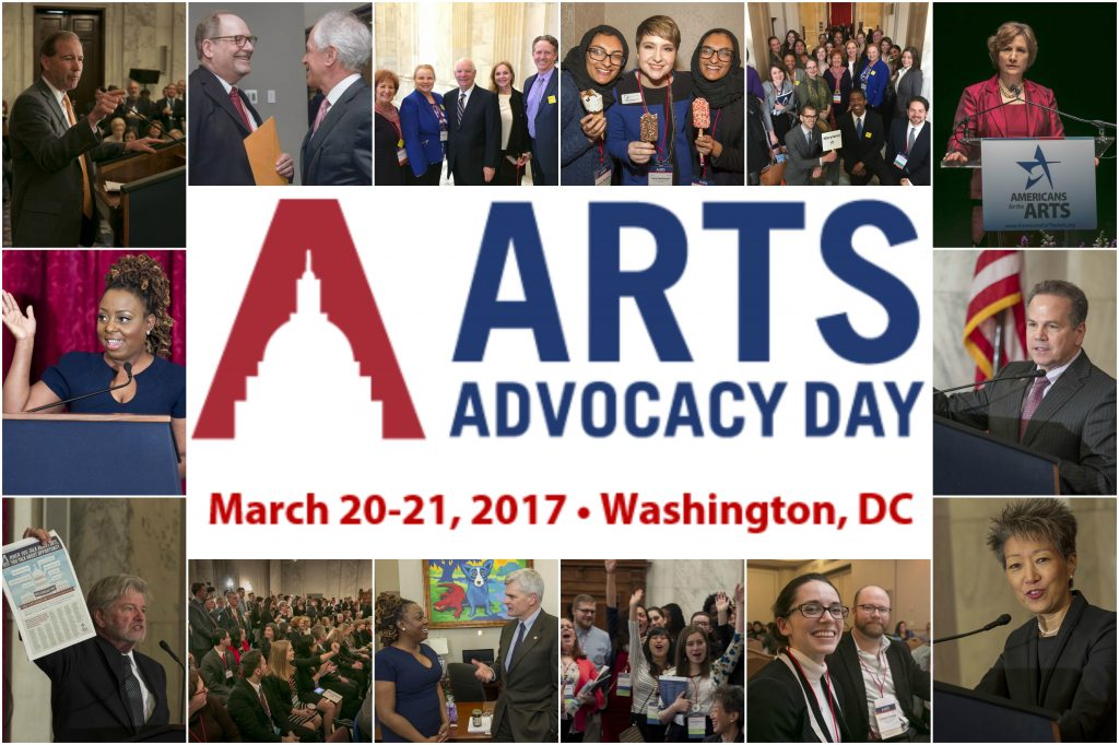 Arts Advocacy Day 2017 Collage of arts advocates