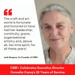 CERF+ Celebrates Executive Director Cornelia Carey's 25 Years of Service