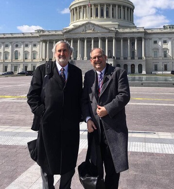 Craig Nutt, (left) CERF+'s Advisor on Policy + Government Relations represents the needs of artists at Americans for the Arts Arts Advocacy Day in our nation's capital. Pictured with State Captain Rodney VanValkenberg — with Craig Nutt.