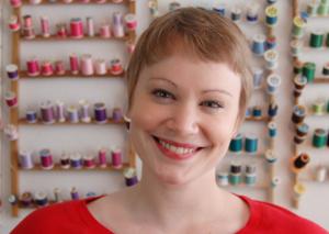 Picture of Amarette Gregor in her Portland, OR studio