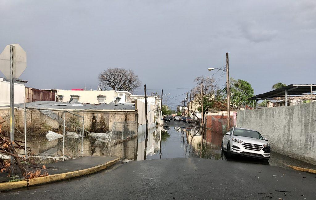 Flooded street in San Juan